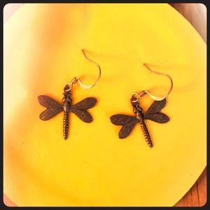 Cute dragonfly earrings